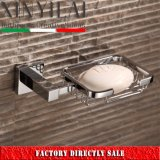浴室の正方形のクロム真鍮の壁の台紙ワイヤー石鹸入れ