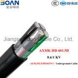 Axmk, Al/XLPE/EPDM/PVC Tiefbaukabel, 0.6/1kv, HD 603.5D