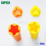 Moulages en forme d'étoile de la meilleure qualité de bruit de glace de Popsicle de silicones avec des couvercles