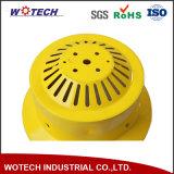 黄色い粉のコーティングが付いている回転アルミニウムランプのかさカバー