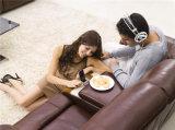 Sofá de cuero italiano del Recliner de Brown por eléctrico para el hogar