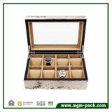 Contenitore di vigilanza di legno di qualità del coperchio di lusso eccellente di modo