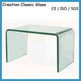6mm hanno piegato il vetro Tempered per mobilia con il certificato di ISO/Ce/SGS