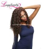 Het echte In het groot Krullende Frontale 13X4 Maagdelijke Braziliaanse Menselijke Haar van de Mink