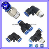 Guarniciones neumáticas roscadas tubo de la PU de aire de China de manguito del metal plástico neumático de las guarniciones
