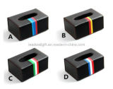 Power Black Carbon Fiber Car Caja de papel para automóviles Caja de papel Caja para la caja 3 Color Leather Strip