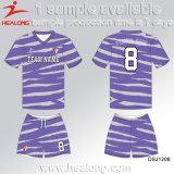 Le premier football Jersey de dames de sublimation de vêtements de sport de vente de Healong