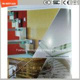 кислота 3-19mm вытравила Tempered анти- смещая стекло для лестницы