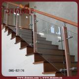 De Balustrade van het staal en van het Gehard glas (dms-B2166)