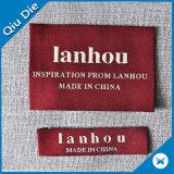 Contrassegno personalizzato di nome del tessuto tessuto marca per bagagli/sciarpa