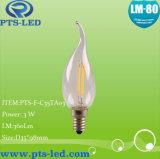 C35ta 1W 2W 3W 4W LEDのフィラメントの蝋燭の照明
