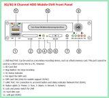magnétoscopes numériques du véhicule DVR de 4CH 8CH avec le rail de GPS
