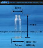 Cristalleria trasparente della bottiglia della spremuta per acqua