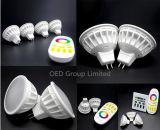 lámparas elegantes del proyector RGBW LED Dimmable de la bombilla de 2.4G 4W MR16 WiFi LED con 2 años de garantía