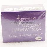 Die 100 Nagel-Kunst-Polnisch-Remover-Folie wickelt Maniküre-Produkte ein (NF06)