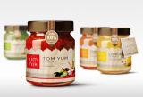 Küche-Produkt-eingemachte Waren Galss Glas-Honig-Marmeladen-Glas-Speicher-Flaschen-Gläser