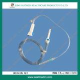 Conjunto de la infusión con el Y-Sitio/el regulador del flujo/el conector libre de la aguja
