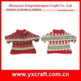 Suéter de Navidad, Navidad Vino suéter de la decoración de la botella de Navidad