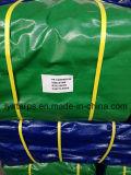 Couverture de camion de bâche de protection de PE, bâche de protection bleue/verte en plastique