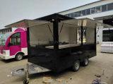 Chariot mobile de vente de hot-dog poussant la remorque de chariot de nourriture