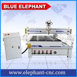 Vielseitige selbst gemachte 4 Mittellinie CNC-hölzerne Gravierfräsmaschine mit Dreheinheit für wahlweise freigestelltes