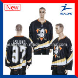 Tapa de Healong que vende el hockey sobre hielo del emparejamiento de la escuela de la sublimación de la ropa Jersey