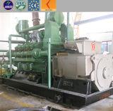 central eléctrica de la gasificación de la biomasa 1MW con el conjunto de generador del generador de gas de la biomasa