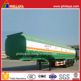 D'essence de gaz de transport de réservoir remorques en acier de pétrolier de camion semi