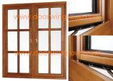Guichet de bonne qualité de guichet en aluminium en bois manufacturier de tissu pour rideaux de type d'entreprises de guichet, américain et australien