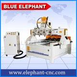 Router di scultura di legno di CNC 3D di Ele 0809 con rotativo, rotativo della macchina per incidere del router di CNC multi