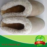 Зима ботинка овчины тапочки женщин крытая