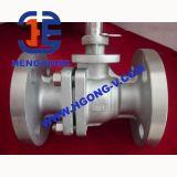 Válvula de esfera pneumática da flange do aço inoxidável de DIN/JIS