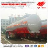 Remorque matérielle corrosive de camion-citerne de Monoblock de 3 essieux