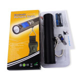 Funcional com a escala portátil da bagagem do curso de Digitas da lanterna elétrica