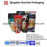 Porcas de selos laterais do produto comestível três do entalhe do rasgo que empacotam o saco