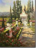 Het klassieke Schilderen van het Landschap van de Bloemen van de Tuin