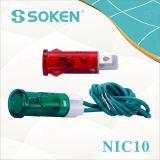 Luz de indicador Nic10 com lâmpada de néon
