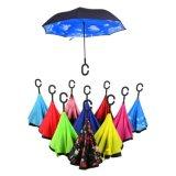 고품질 C-Type 리버스 방수 우산 차를 위한 핸즈프리 방풍 일요일 우산