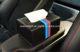 Цвета держателя 3 случая бумажной коробки коробки ткани автомобиля волокна углерода силы прокладка черного автомобильного кожаный