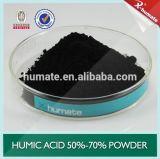 Черная глянцеватая составная гуминовая кислота зернистая