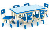 Lua-Shape Adjustable Kindergarten Table Chair Set para Children