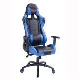Silla de la oficina del juego del ordenador con el soporte lumbar, azul