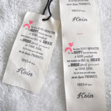 Ткань и Paper Hangtag с Cotton String
