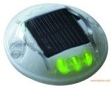 Borne augmentée solaire de trottoir de PC Anti-UV