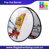 Esterno o dell'interno facendo pubblicità ad una pagina schioccare fuori le bandiere