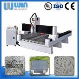 Máquina de vidro do CNC da gravura da estaca do mármore do granito da pedra do eixo do Water-Cooling