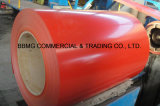 Vorgestrichene galvanisierte Stahlringe mit Knicken-Ende-Behandlung ASTM A653 Z150 PPGI strichen Farbe beschichteten Stahlring vor