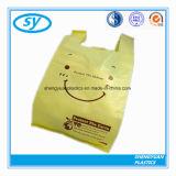 Sac à provisions en plastique de transporteur de gilet de HDPE