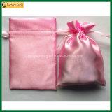 Изготовленный на заказ мешки Drawstring сатинировки мешка подарка сатинировки (TP-dB268)