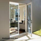 Алюминиевая дверь шарнира/качания двойная стеклянная с многопунктовым замком - Kpm49